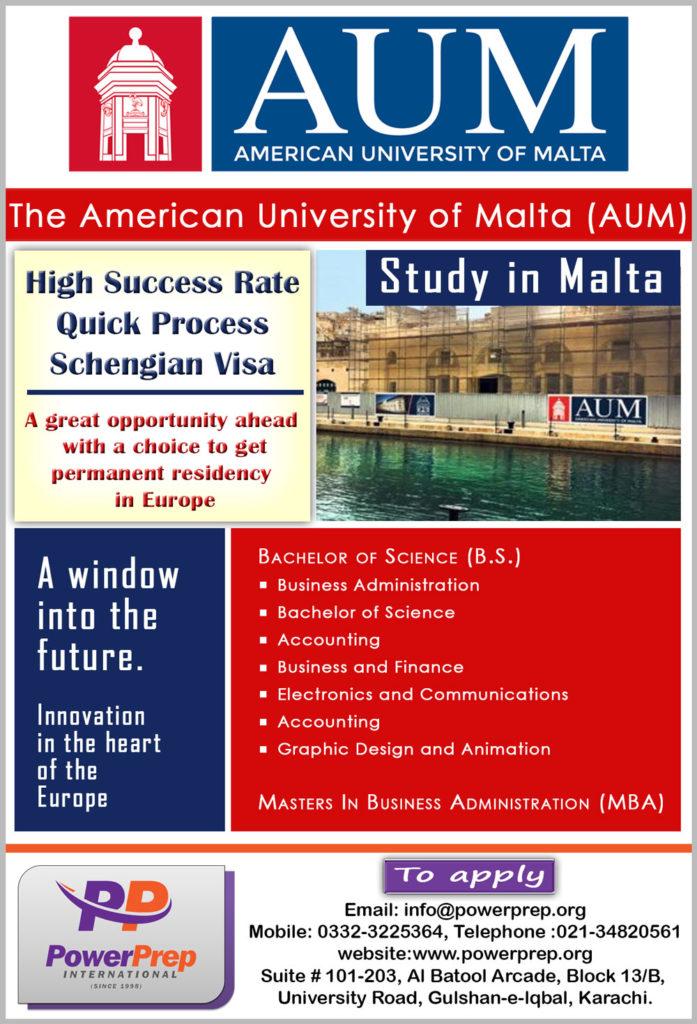 Study In American University Of Malta Power Prep